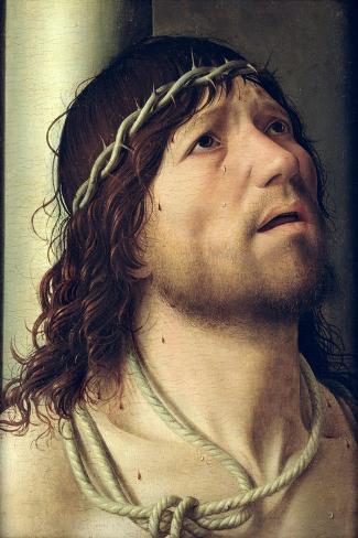 Christ at the Column, circa 1475-Antonello da Messina-Stretched Canvas Print