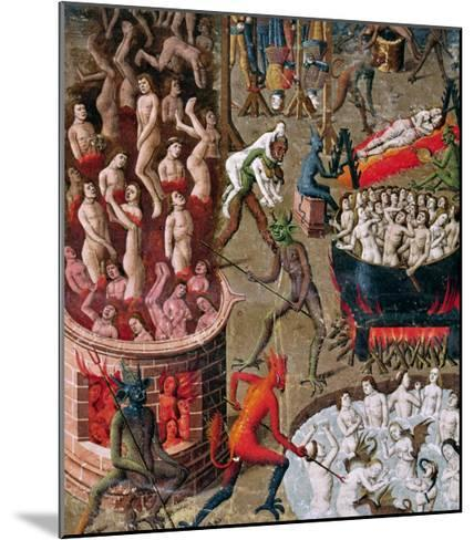 """Hell, from the French Translation of """"De Civitate Dei"""" by St. Augustine of Hippo--Mounted Giclee Print"""