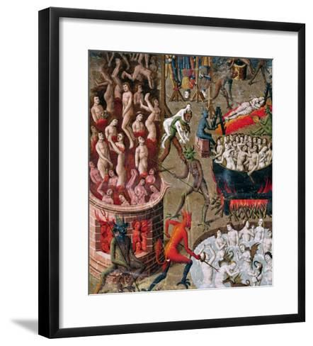 """Hell, from the French Translation of """"De Civitate Dei"""" by St. Augustine of Hippo--Framed Art Print"""