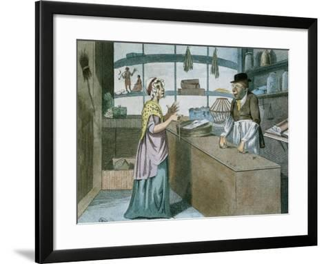 A Touch at the Times, Caricature of the French Blockade, March 1805--Framed Art Print