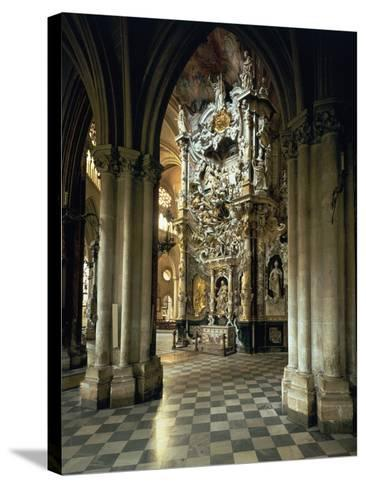 """View of the Altar and the """"Transparente"""", circa 1720-Narciso Tome-Stretched Canvas Print"""