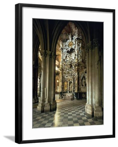 """View of the Altar and the """"Transparente"""", circa 1720-Narciso Tome-Framed Art Print"""