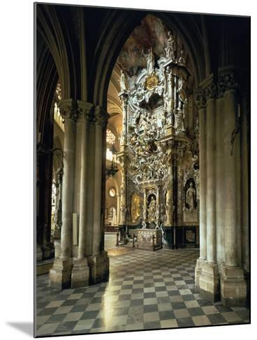 """View of the Altar and the """"Transparente"""", circa 1720-Narciso Tome-Mounted Giclee Print"""
