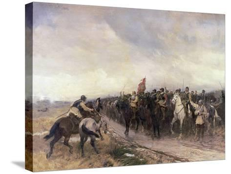 Cromwell at Dunbar, 1650-Andrew Carrick Gow-Stretched Canvas Print