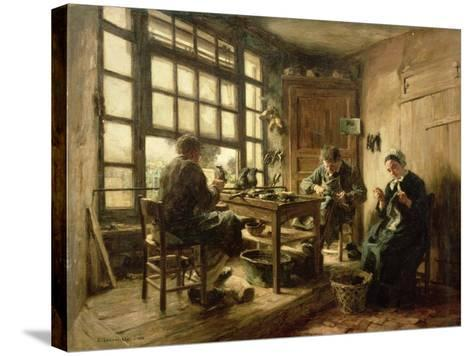 The Cobblers, 1880-L?on Augustin L'hermitte-Stretched Canvas Print