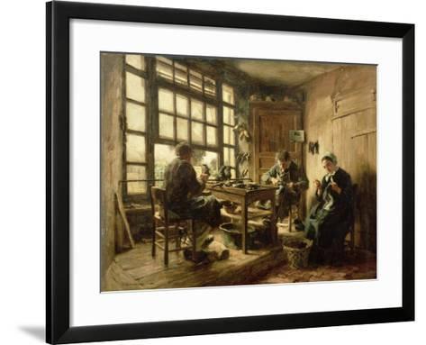 The Cobblers, 1880-L?on Augustin L'hermitte-Framed Art Print