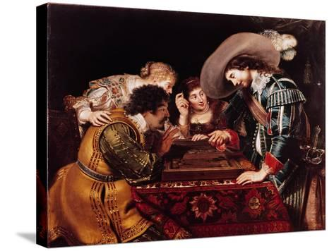 The Game of Backgammon-Cornelis de Vos-Stretched Canvas Print
