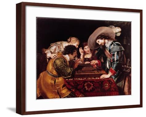 The Game of Backgammon-Cornelis de Vos-Framed Art Print