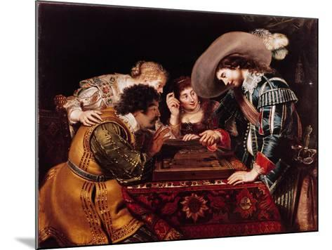 The Game of Backgammon-Cornelis de Vos-Mounted Giclee Print