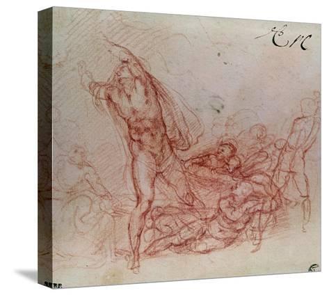 The Resurrection of Christ, circa 1536-38-Michelangelo Buonarroti-Stretched Canvas Print