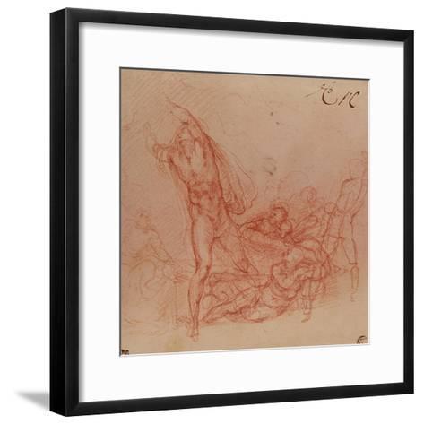 The Resurrection of Christ, circa 1536-38-Michelangelo Buonarroti-Framed Art Print