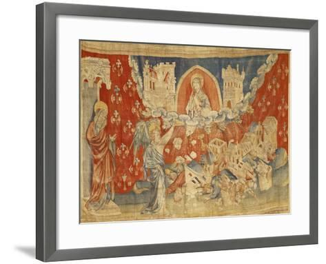 """The Seven Bowls of Wrath and the Destruction of Babylon, No. 63 in the """"Apocalypse of Angers""""-Nicolas Bataille-Framed Art Print"""