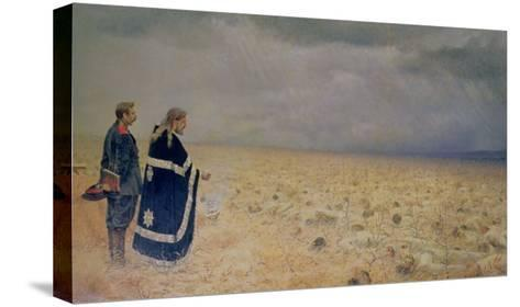 The Vanquished. Requiem for the Dead, 1878-79-Vasilij Vereshchagin-Stretched Canvas Print