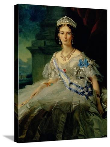 Portrait of Princess Tatiana Alexanrovna Yusupova, 1858-Franz Xaver Winterhalter-Stretched Canvas Print