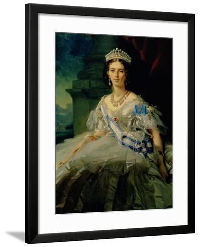 Portrait of Princess Tatiana Alexanrovna Yusupova, 1858-Franz Xaver Winterhalter-Framed Art Print