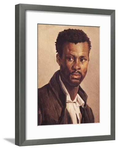 A Negro, 1823-24-Th?odore G?ricault-Framed Art Print