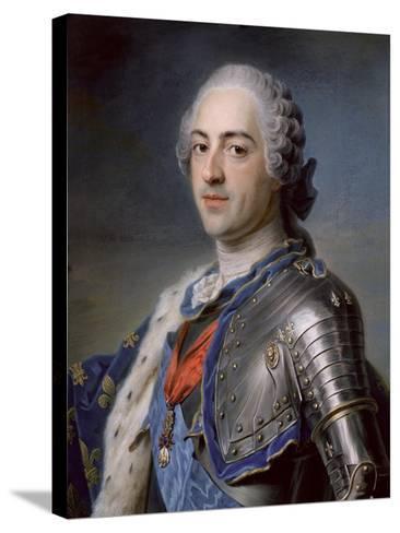 Portrait of King Louis XV 1748-Maurice Quentin de La Tour-Stretched Canvas Print