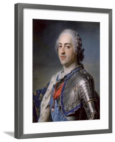 Portrait of King Louis XV 1748-Maurice Quentin de La Tour-Framed Art Print