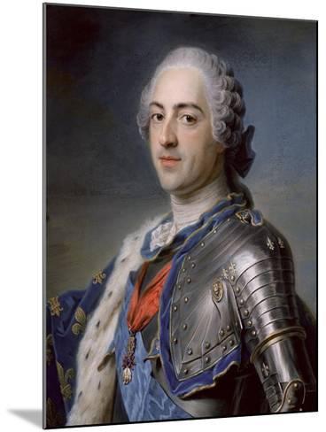 Portrait of King Louis XV 1748-Maurice Quentin de La Tour-Mounted Giclee Print