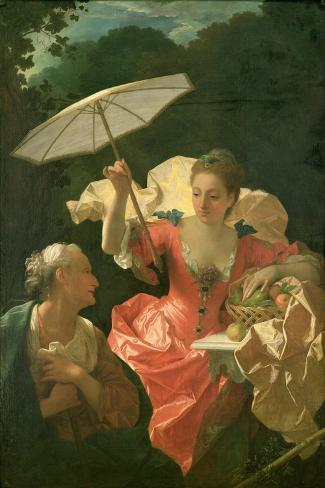 Vertumnus and Pomona-Jean Ranc-Stretched Canvas Print