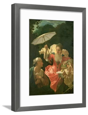 Vertumnus and Pomona-Jean Ranc-Framed Art Print