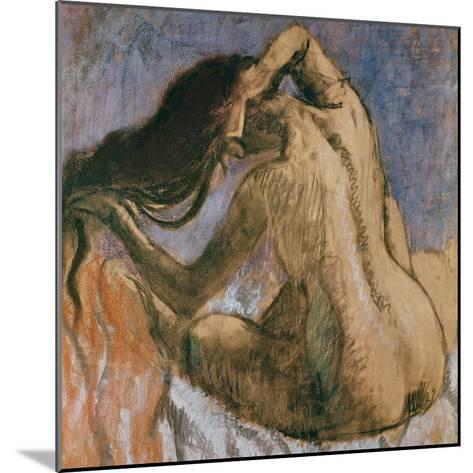 Woman Combing Her Hair, 1905-10-Edgar Degas-Mounted Giclee Print