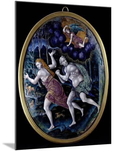 Oval Plaque Depicting Adam and Eve Expelled from Paradise, Limousin--Mounted Giclee Print