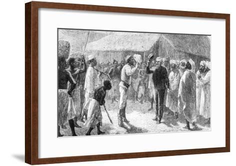 """David Livingstone from """"How I Found Livingstone"""" by Sir Henry Morton Stanley--Framed Art Print"""