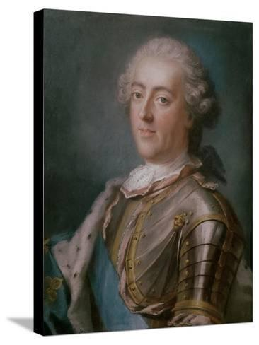 Portrait of Louis XV King of France-Gustav Lundberg-Stretched Canvas Print