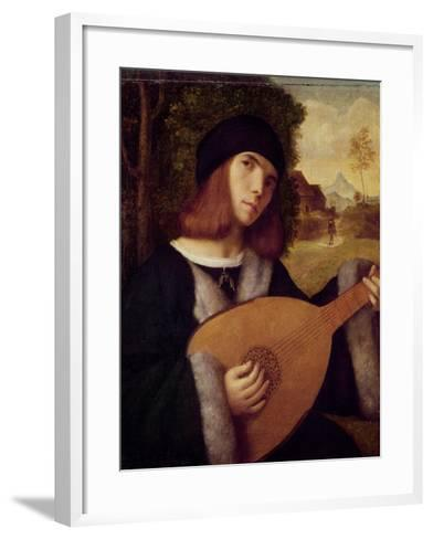 The Lute Player-Giovanni de Busi Cariani-Framed Art Print