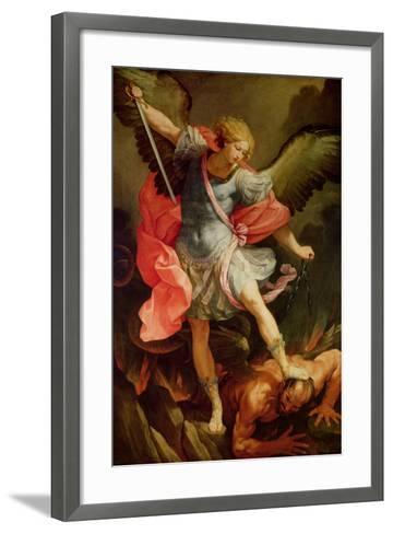 The Archangel Michael Defeating Satan-Guido Reni-Framed Art Print