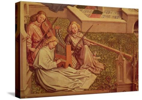 The Fountain of Grace, Detail of Three Angel Musicians-Jan van Eyck-Stretched Canvas Print