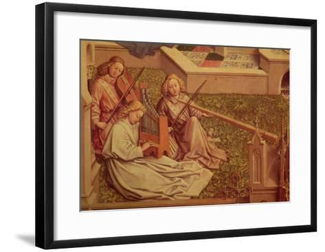The Fountain of Grace, Detail of Three Angel Musicians-Jan van Eyck-Framed Art Print