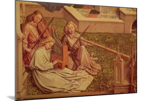 The Fountain of Grace, Detail of Three Angel Musicians-Jan van Eyck-Mounted Giclee Print