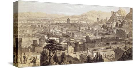 The City of Ephesus from Mount Coressus, 1859-E. Falkener-Stretched Canvas Print