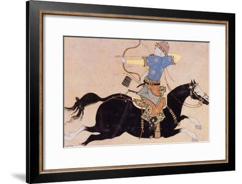 Horseman Drawing His Bow--Framed Art Print