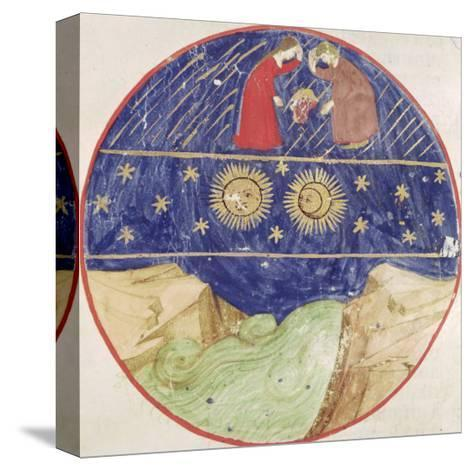 Dante and Beatrice Contemplating the Sign of Gemini, the Planets and the Earth--Stretched Canvas Print