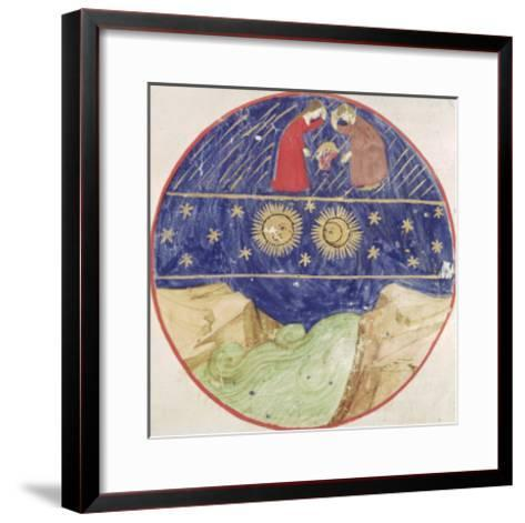 Dante and Beatrice Contemplating the Sign of Gemini, the Planets and the Earth--Framed Art Print