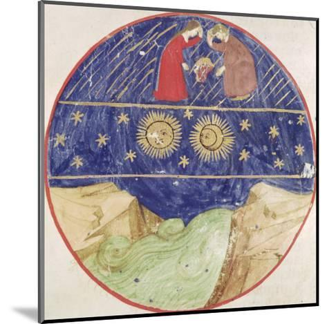 Dante and Beatrice Contemplating the Sign of Gemini, the Planets and the Earth--Mounted Giclee Print