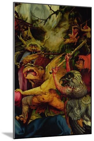 Demons Armed with Sticks from the Isenheim Altarpiece, C,1512-16-Matthias Gr?newald-Mounted Giclee Print