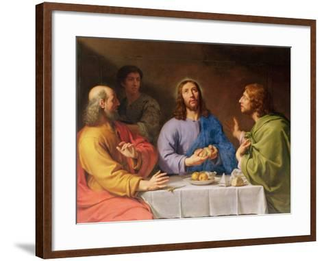 The Supper at Emmaus-Philippe De Champaigne-Framed Art Print