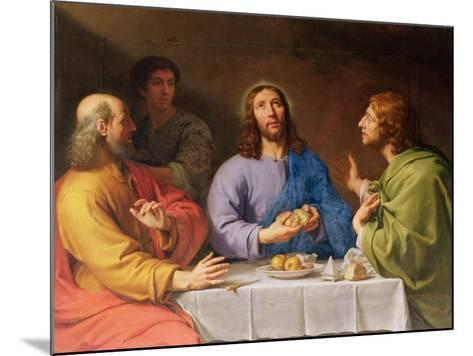 The Supper at Emmaus-Philippe De Champaigne-Mounted Giclee Print