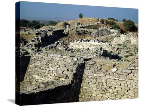 The Mound of Hissarlik, the Site of the Ancient City of Troy, 3000-1100 BC--Stretched Canvas Print