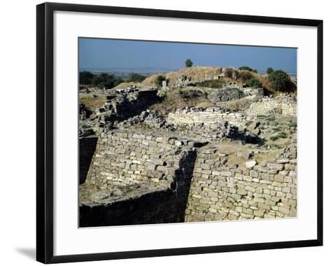 The Mound of Hissarlik, the Site of the Ancient City of Troy, 3000-1100 BC--Framed Art Print