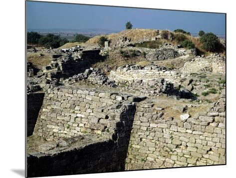 The Mound of Hissarlik, the Site of the Ancient City of Troy, 3000-1100 BC--Mounted Giclee Print