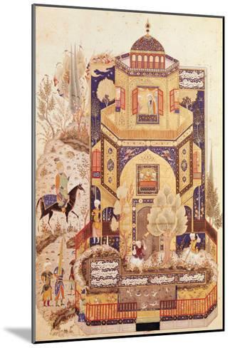 "Khusrau in Front of the Palace of Shirin, from ""Khusrau and Shirin"" by Elyas Nezami 1504--Mounted Giclee Print"
