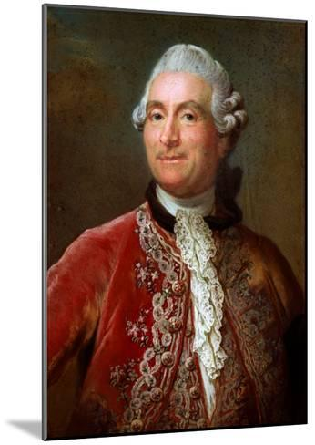 Charles Gravier Count of Vergennes, 1771-74-Gustav Lundberg-Mounted Giclee Print