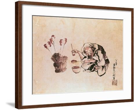 Craftsman Painting Toys-Katsushika Hokusai-Framed Art Print
