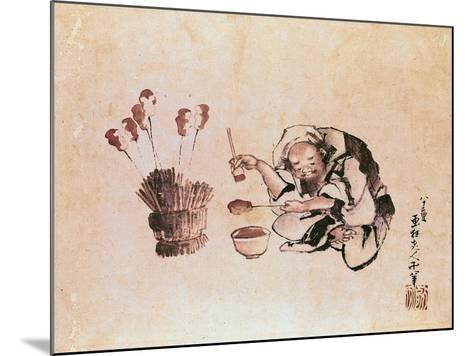 Craftsman Painting Toys-Katsushika Hokusai-Mounted Giclee Print