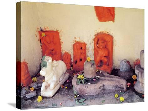 A Shrine of a Chapel on the Ganges--Stretched Canvas Print